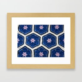 African Flower Crochet Art Framed Art Print