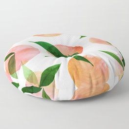 Abstract Orchard / Watercolor Fruit Floor Pillow