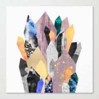 crystals Canvas Prints featuring Crystals by Elisabeth Fredriksson