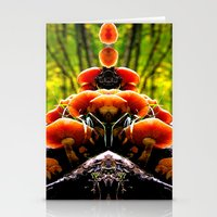 mushrooms Stationery Cards featuring mushrooms by haroulita