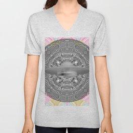 UFO Space Mandala Art Print Unisex V-Neck