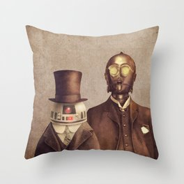 Victorian Robots  Throw Pillow