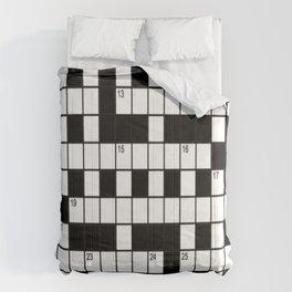 Cross Words Comforters