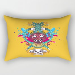 Demonio Azteca Rectangular Pillow