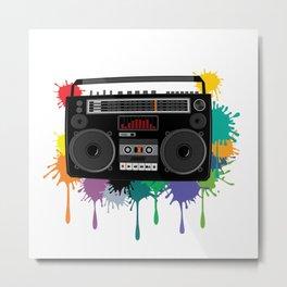 C13D Music Boombox 3 Metal Print