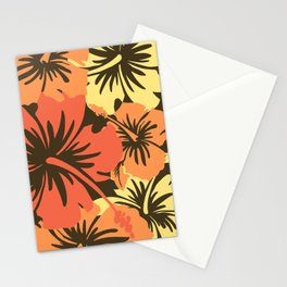 Epic Hibiscus Hawaiian Floral Aloha Shirt Print Stationery Cards