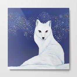 Holiday Arctic Fox Metal Print