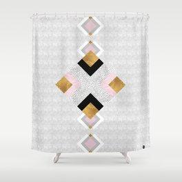 Rhombus geometric Shower Curtain