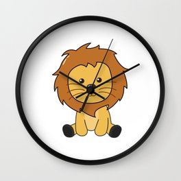 Lion Cute Animals For Kids Lion King Wall Clock