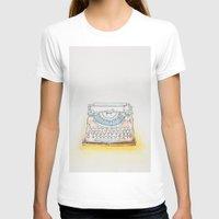 typewriter T-shirts featuring Typewriter by Moe Notsu