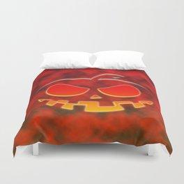 Screaming Pumpkin Duvet Cover