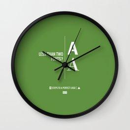 Perfect Logo Series (4 of 11) - Green Wall Clock