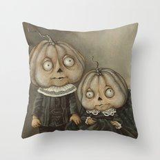 Rucus Studio Ghoul Kids Pumpkins Throw Pillow