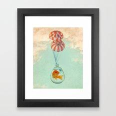 parachute goldfish Framed Art Print