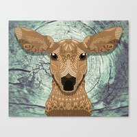bambi Canvas Prints featuring Bambi by ArtLovePassion