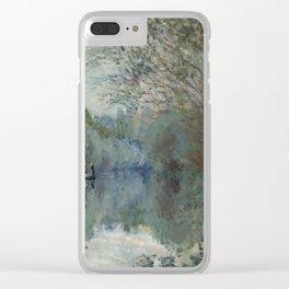 "Claude Monet ""Saules au bord de Lyerres (Willows on the edge of Lyerres)"" Clear iPhone Case"