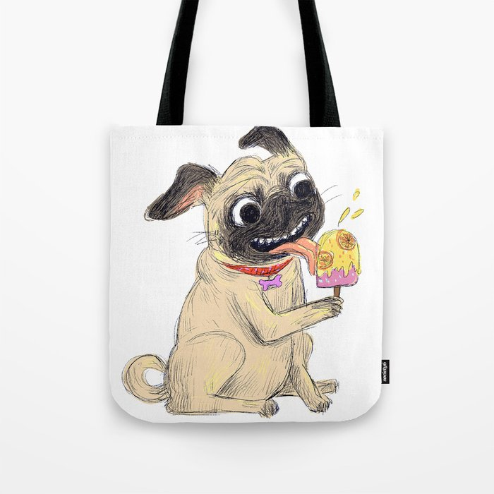 Summer Pug Tote Bag