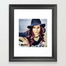 Her own fashion show Framed Art Print