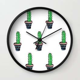 PATTERN II Geometric Cacti Wall Clock