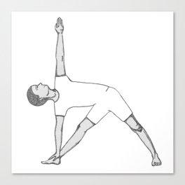 yoga pose 1 Canvas Print