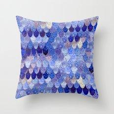 SUMMER MERMAID ROYAL BLUE Throw Pillow