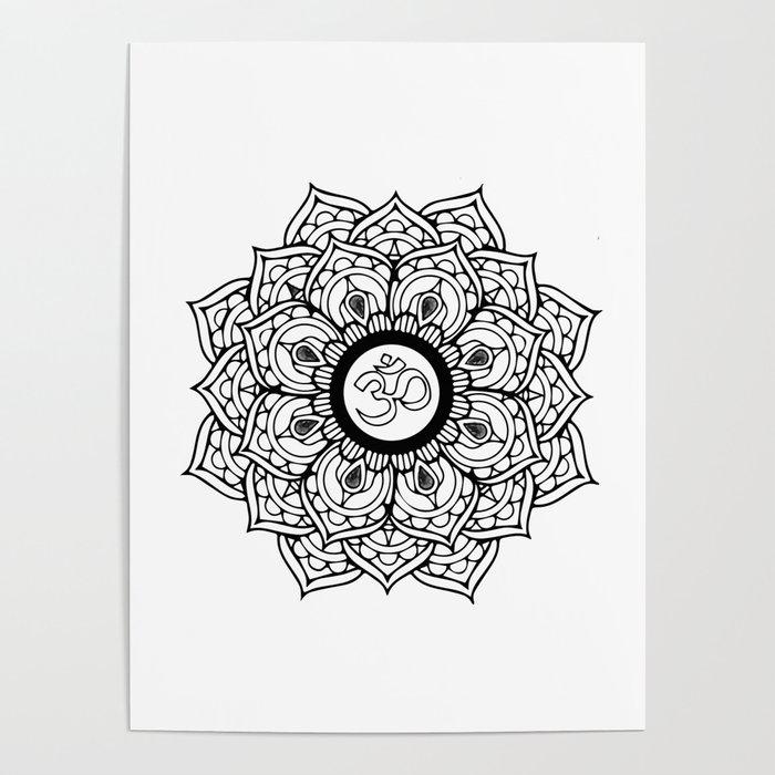 Om Hindu Sacred Sound Symbol Mandala Poster By Artonwear Society6