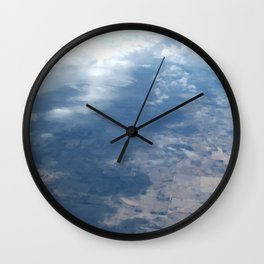 Clouds Across the Prarie Wall Clock