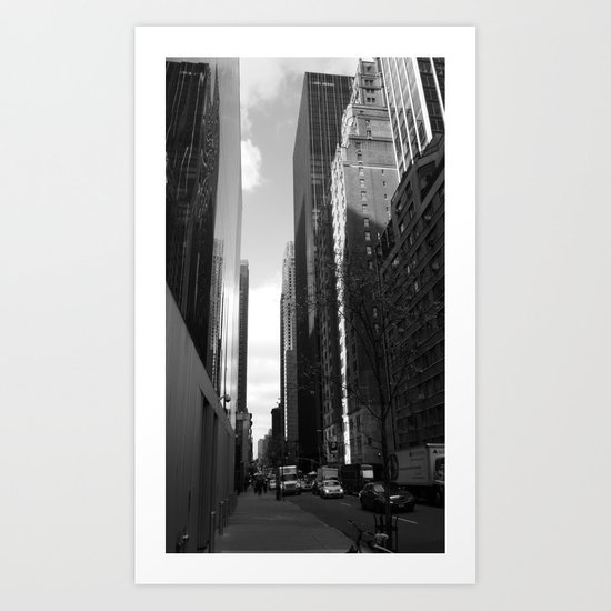 Reflection of the street Art Print