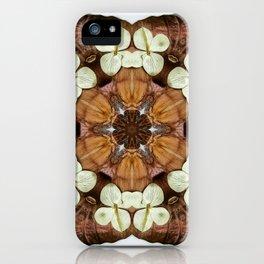 Moth and Flower Mandala iPhone Case