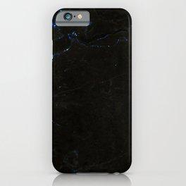 Dark Blue Marble iPhone Case