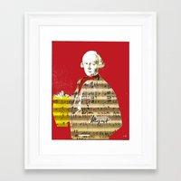 mozart Framed Art Prints featuring Wolfgang Amadeus Mozart by Marko Köppe