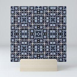 Blue kaleidoscope Mini Art Print