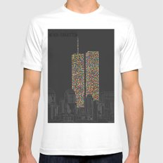 2606 Souls compose The Twin Towers White MEDIUM Mens Fitted Tee
