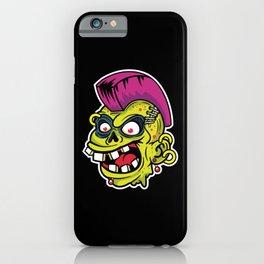 Comic - Zombie Punk Iroquois - dark iPhone Case