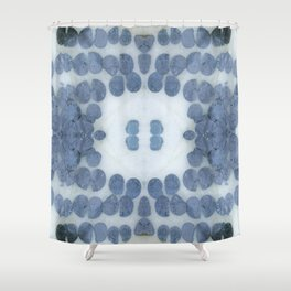 Sea Shell Disco Powder Blue Shower Curtain