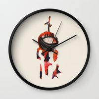 knight Wall Clocks featuring Knight by Sasha Rinaldi