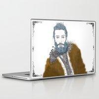 beard Laptop & iPad Skins featuring beard by katiwo