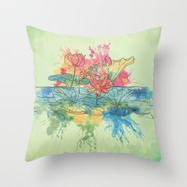 Lotus Splash Throw Pillow