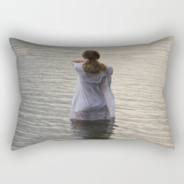 Dreaming in the water Rectangular Pillow
