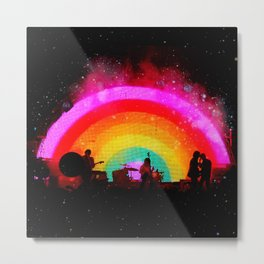 The Flaming Lips Space Rainbow Metal Print