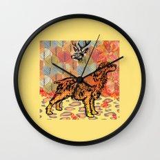 Hunting dog pop art Wall Clock