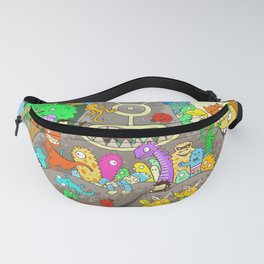 It's a small world full of assorted critters Fanny Pack
