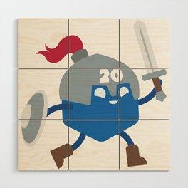 20 Sided Hero Wood Wall Art