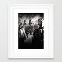 zombies Framed Art Prints featuring Zombies by Joe Roberts