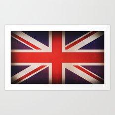 OLD UNITED KINGDOM FLAG Art Print