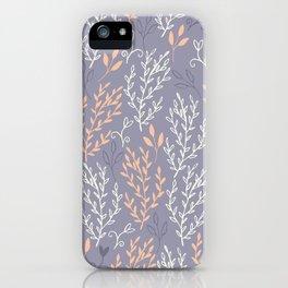 Dusky Purple And Orange Fern iPhone Case