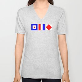 WTF What The Fuck Nautical Signal Flags Unisex V-Neck