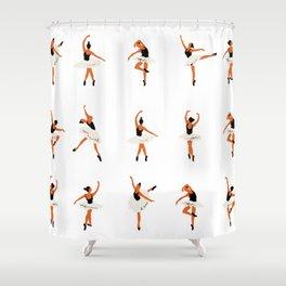 Ballet Dancer - pattern Shower Curtain