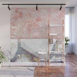 Abstract Pink Art Wall Mural