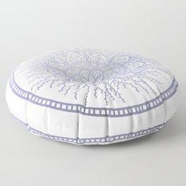 Lavender Nature Mandala Floor Pillow